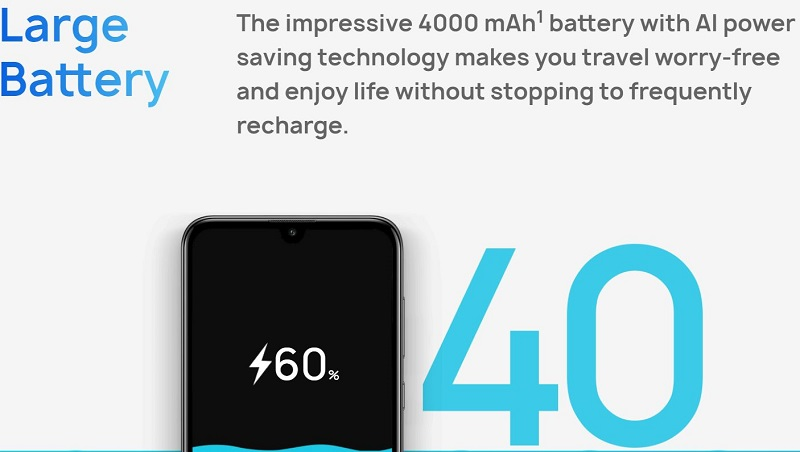 Large Battery Capacity