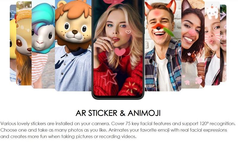 AR Sticker and Animoji Camera Features