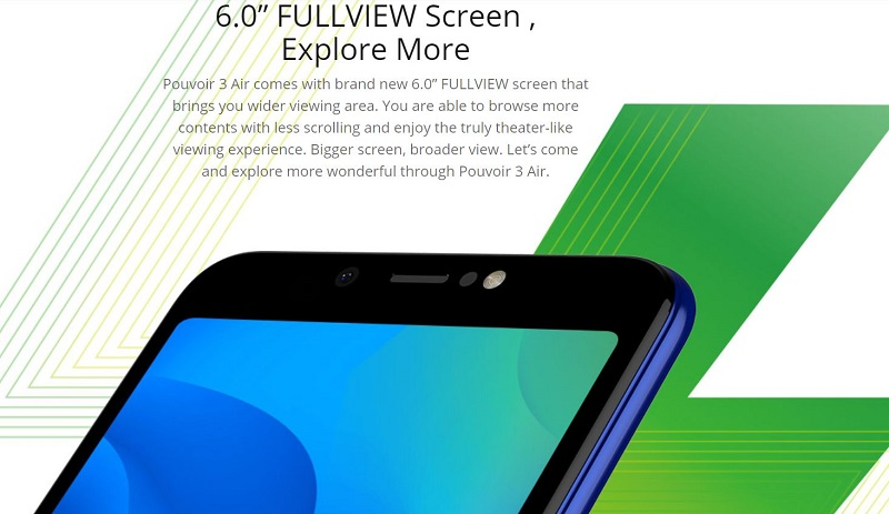 Tecno Pouvoir 3 Air 6.0 Full View Screen