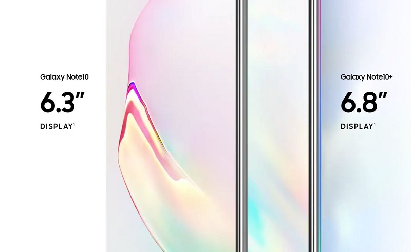 Samsung Galaxy Note 10 Display Varieties