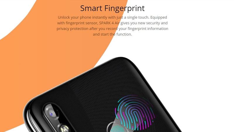 Tecno Spark 4Air Smart Fingerprint