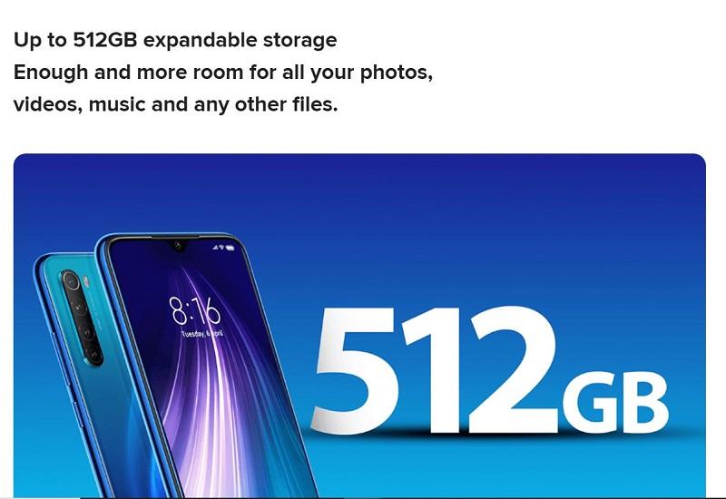 512 Giga Bite Expandable Storage