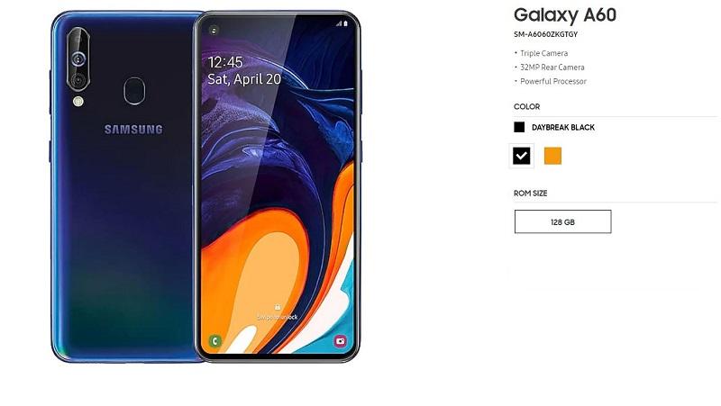Galaxy A 60 Key Specs