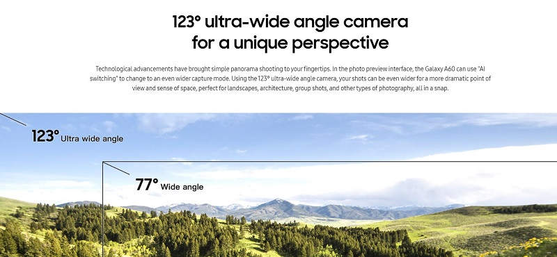 Galaxy A 60 Ultra Wide Camera