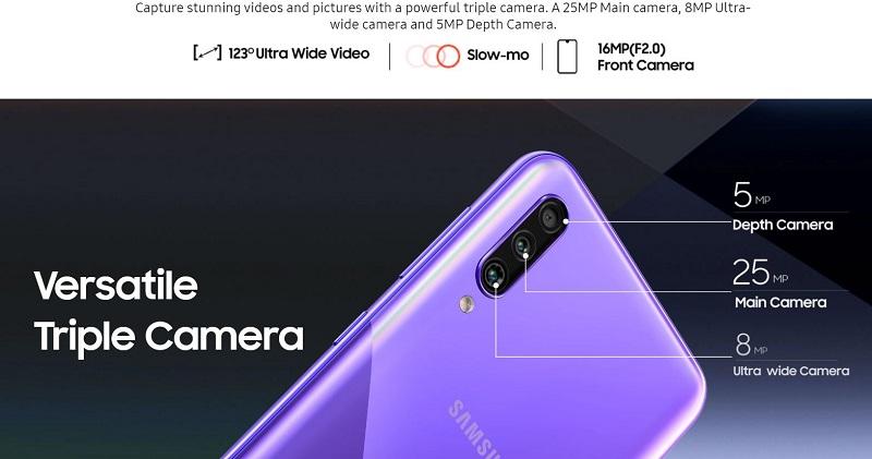 Galaxy A30 s Rear Camera