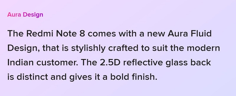 Note 8 Aura Design