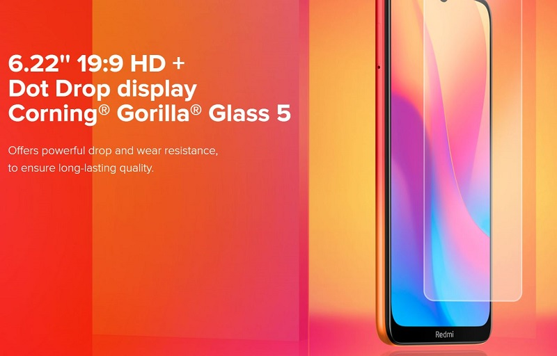 Redmi 8A 6.22 Inches Display
