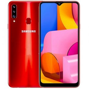 Samsung Galaxy A20s red