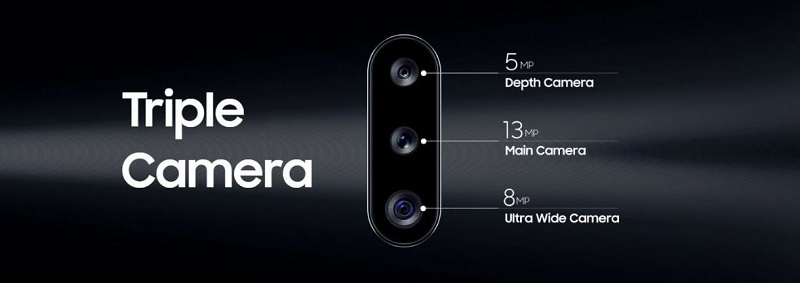 Samsung Galaxy A20s triple back camera