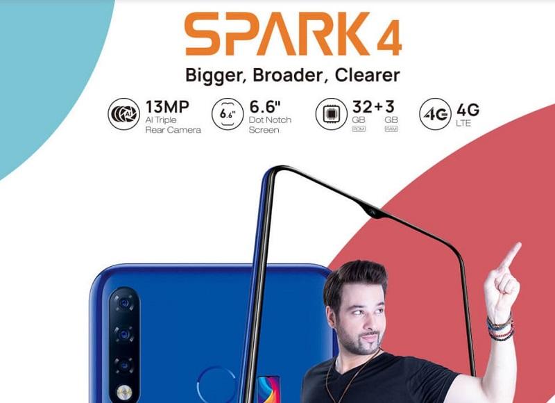 Tecno Spark 4 Key Specs