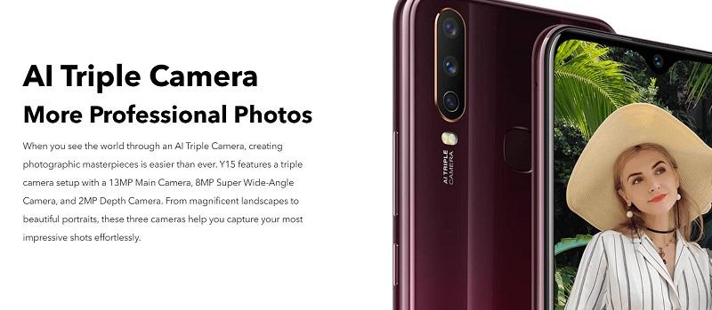 Vivo Y15 Professional Triple Camera