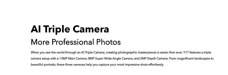 Vivo Y17 Triple Camera
