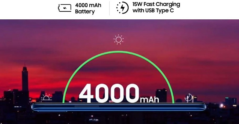 powerful 4000mAh battery and fast charging