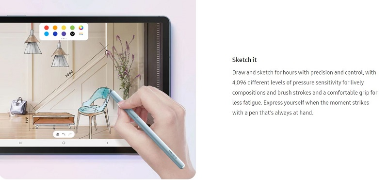 Draw and Sketch on the Tab S6 using the S Pen