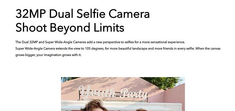V17 Pro Dual selfie Camera