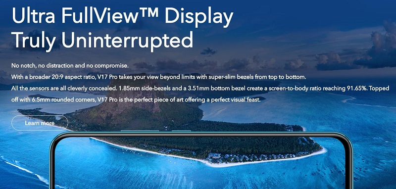 V17 Pro Uninterrupted Display