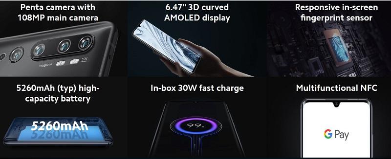 Xiaomi Mi Note 10 Features