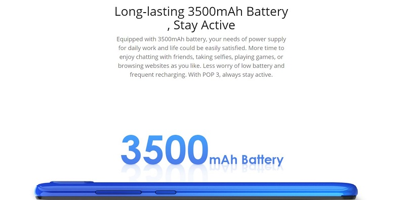 3500mAh Long Lasting Battery