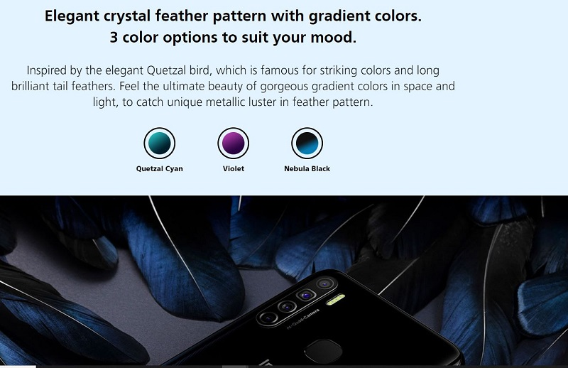 Elegant Crystal Feather Pattern with Gradient Colors