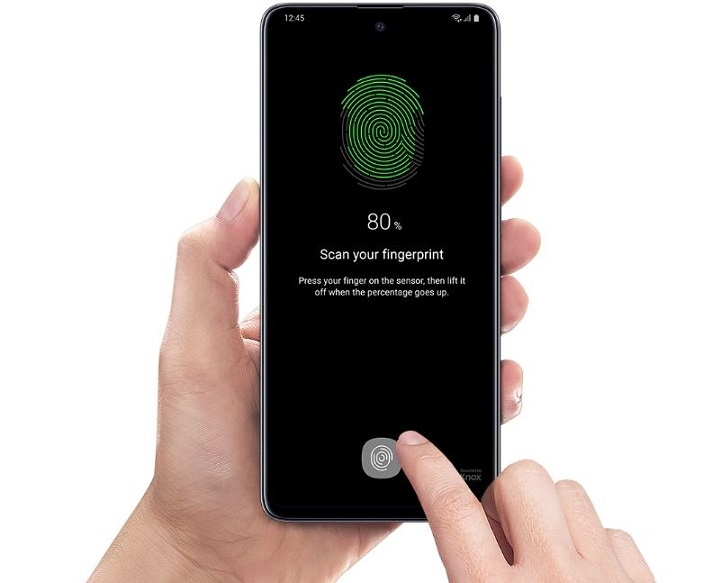 Samsung Galaxy A51 Fast On-screen fingerprint scanner