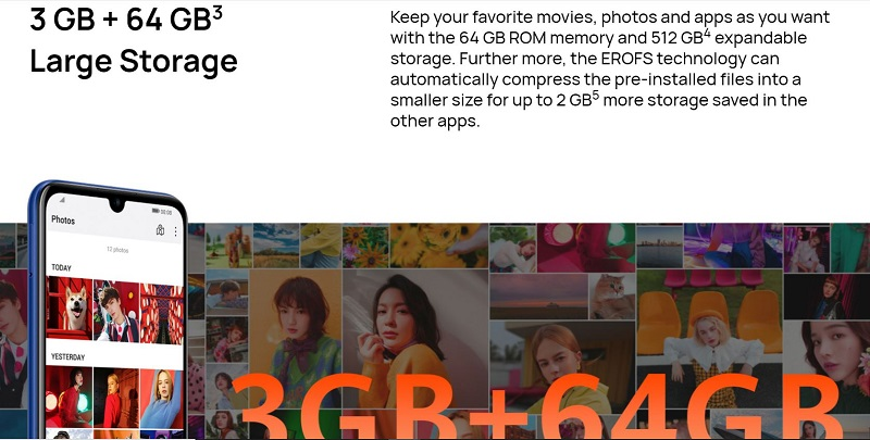 3GB+4GB Large Storage