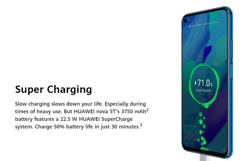 Nova 5T Fast charging