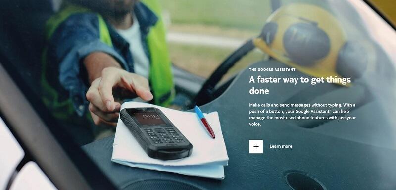 Nokia 800 Tough Google Assistant Feature