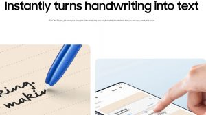 S Pen Instantly Turns and writing into Text