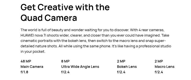 Nova 7i Quad Camera