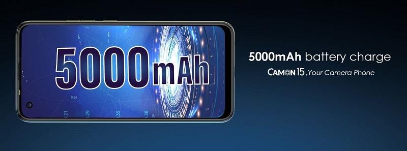 Tecno Camon 15 5000mAh battery