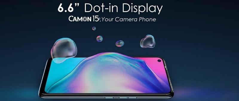 Tecno Camon 15 Dot Display