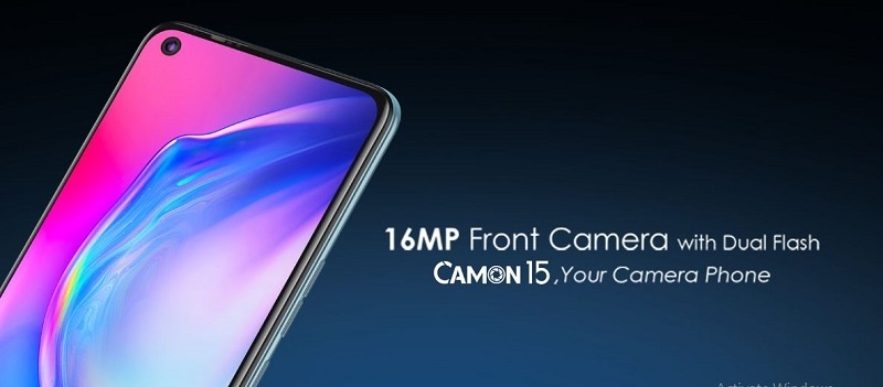 Tecno Camon 15 front camera with dual flash