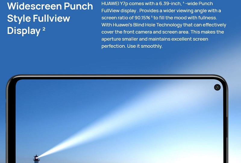 Wide Screen Punch Style Full View Display