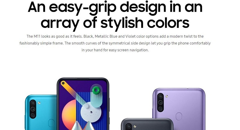 Galaxy M11 different colors