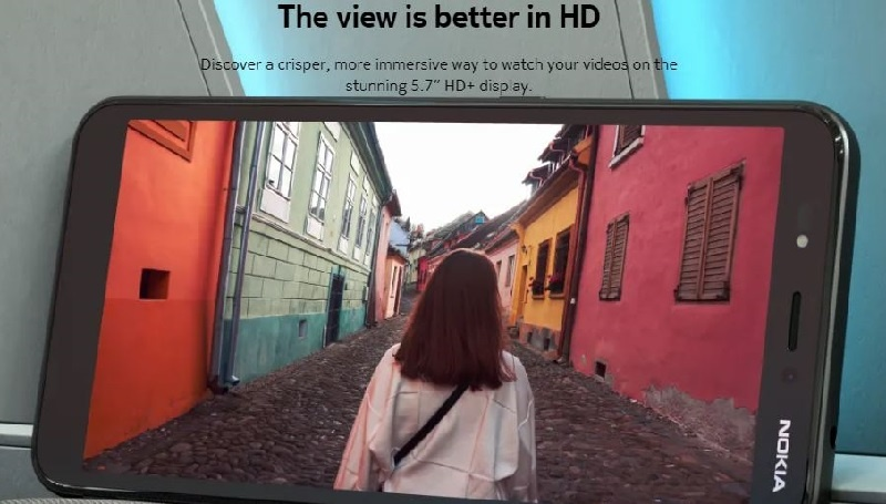 Nokia C2 HD display