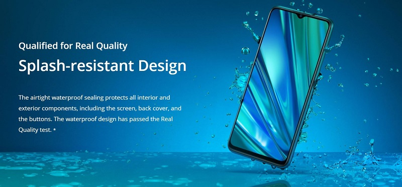 Realme 5 Pro Splash-Resistant Design