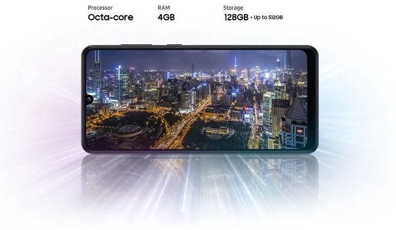 Samsung Galaxy A31 powerful processor, Ample storage