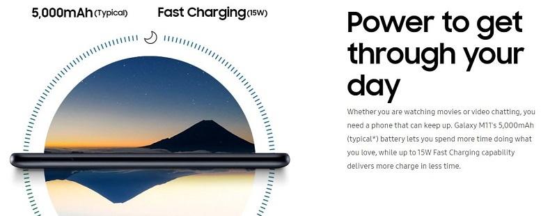Samsung Galaxy M11 Powerful 5000mAh