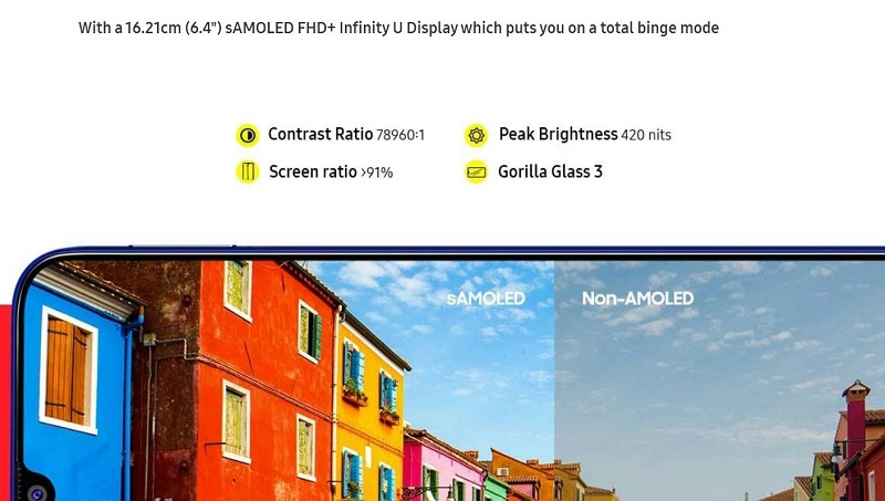 Super AMOLED Full HD Display