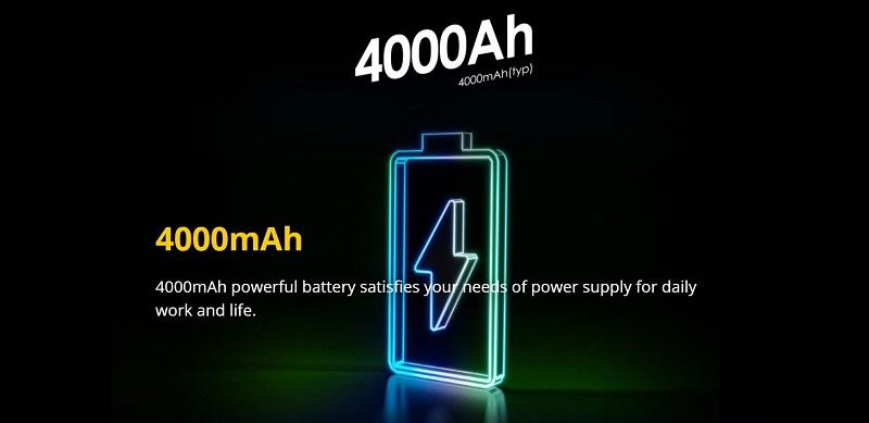 4000mAh Battery Capacity