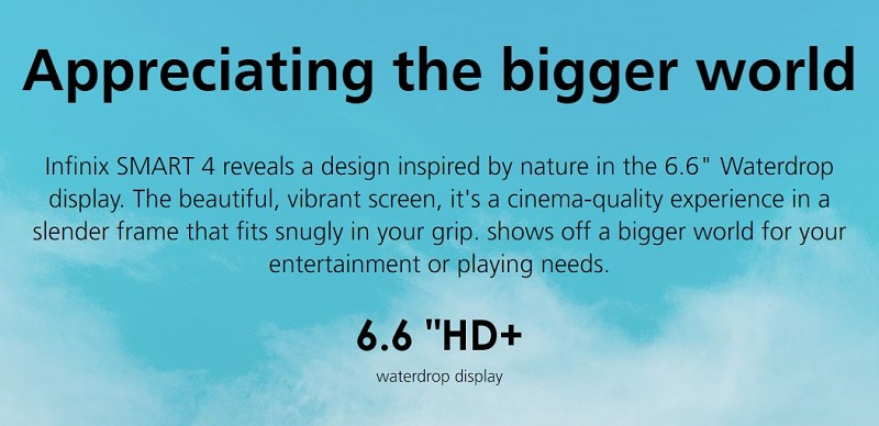 6.6 Inches High Definition Display