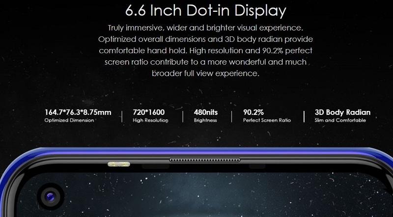 6.6 inch dot-in display