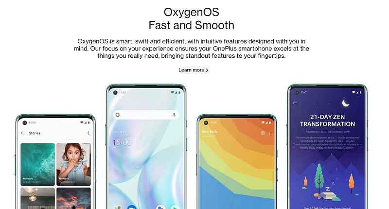 Fast and Smooth Oxygen OS
