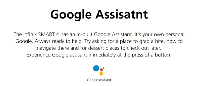 In-Built Google Assistant