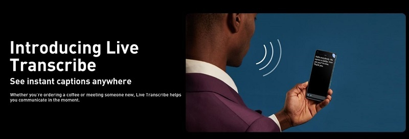 Infinx Note 7 Live transcribe