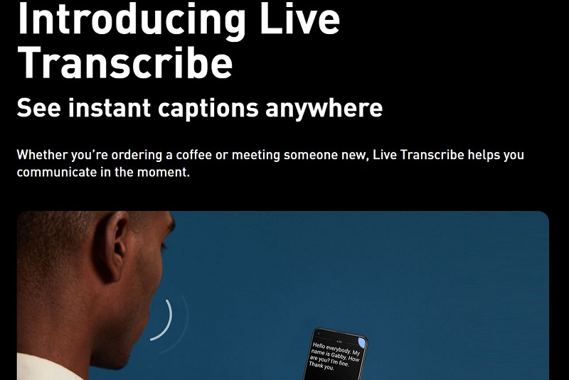 Introducing Live Transcribe