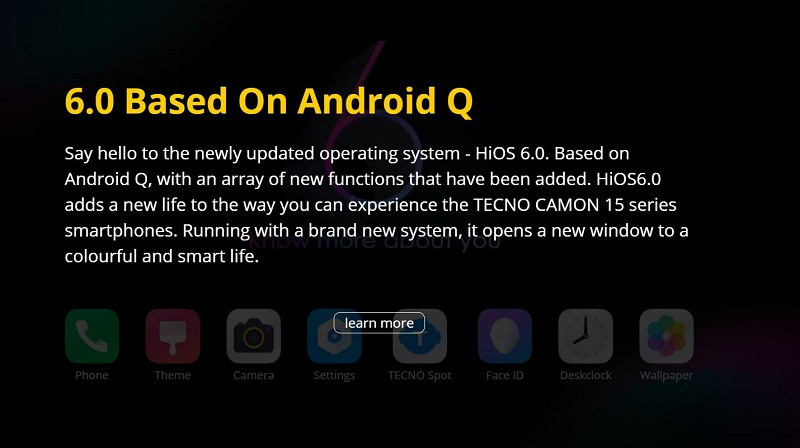Newly Updated HiOS 6.0