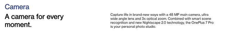 OnePlus 7 Pro Triple Camera