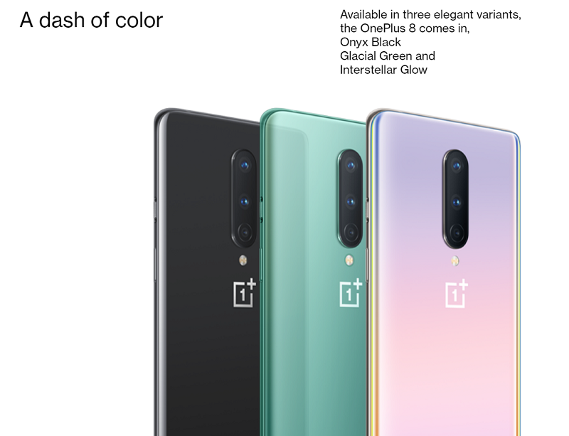 OnePlus 8 Elegant Colors