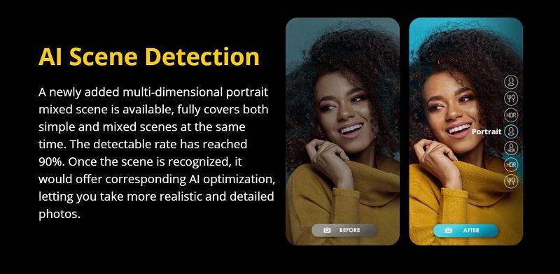 Tecno Camon 15 Premier AI Scene Detection